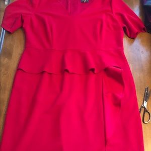 Adriana Pappell red dress with front slit